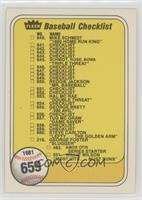 Checklist (Last Number on Front is #551)