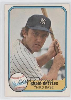 """1981 Fleer #87.1 - Graig Nettles (Error: """"Craig"""" on Back)"""