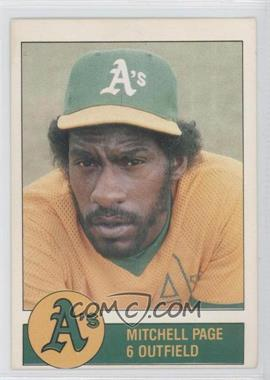 1981 Granny Goose Potato Chips Oakland Athletics - Food Issue [Base] #N/A - Mitchell Page