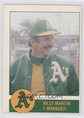 1981 Granny Goose Potato Chips Oakland Athletics Food Issue [Base] #N/A - Billy Martin