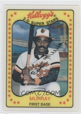 1981 Kellogg's 3-D Super Stars - [Base] #18 - Eddie Murray