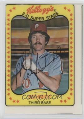 1981 Kellogg's 3-D Super Stars - [Base] #5 - Mike Schmidt