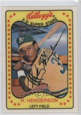 1981 Kellogg's 3-D Super Stars #33 - Rickey Henderson