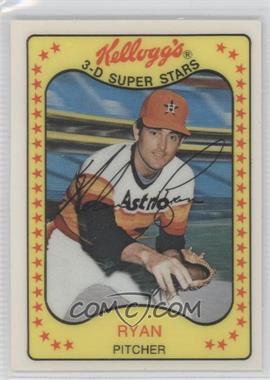 1981 Kellogg's 3-D Super Stars #6 - Nolan Ryan