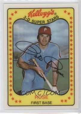 1981 Kellogg's 3-D Super Stars #63 - Pete Rose