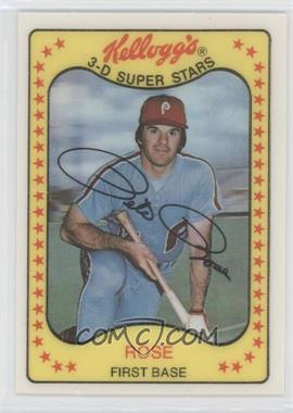 1981 Kellogg's 3-D Super Stars #63 - Pete Rose