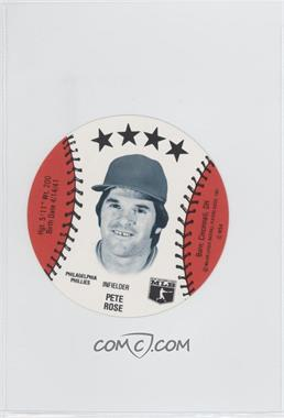 1981 MSA Discs - [Base] #PERO - Pete Rose
