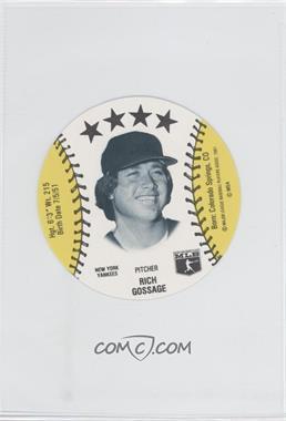 1981 MSA Discs - [Base] #RIGO - Rich Gossage