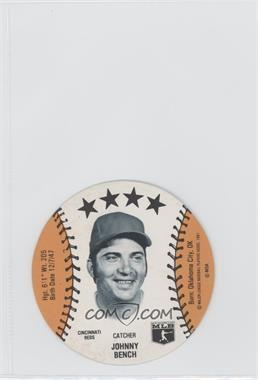 1981 MSA Discs #N/A - Johnny Bench