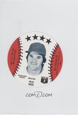 1981 MSA Discs #PERO - Pete Rose