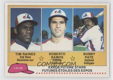 1981 O-Pee-Chee #136 - Tim Raines, Bob Pate, Roberto Ramos