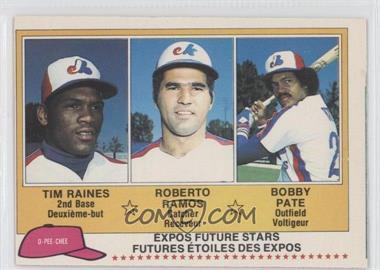 1981 O-Pee-Chee #136 - Tim Raines, Roy Radebaugh, Bob Pate, Robert Randolph
