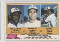 Tim Raines, Roy Radebaugh, Bob Pate