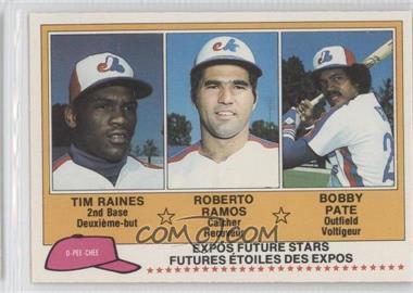 1981 O-Pee-Chee #136 - Tim Raines, Roy Radebaugh, Bob Pate