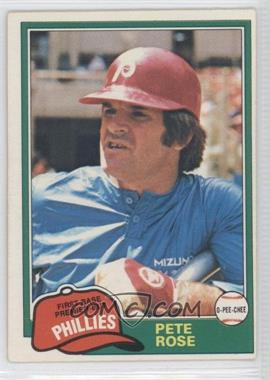 1981 O-Pee-Chee #180 - Pete Rose
