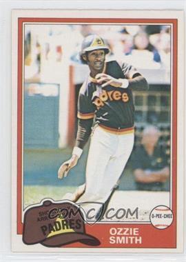 1981 O-Pee-Chee #254 - Ozzie Smith
