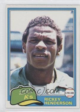 1981 O-Pee-Chee #261 - Rickey Henderson