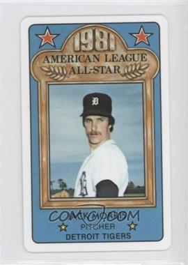 1981 Perma-Graphics/Topps Credit Cards - All-Stars #150-ASA8115 - Jack Morris