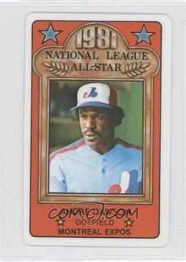 1981 Perma-Graphics/Topps Credit Cards All-Stars #10 - Andre Dawson