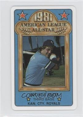 1981 Perma-Graphics/Topps Credit Cards All-Stars #150-ASA8110 - George Brett