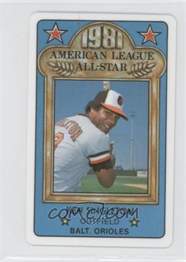 1981 Perma-Graphics/Topps Credit Cards All-Stars #150-ASA8117 - Ken Singleton