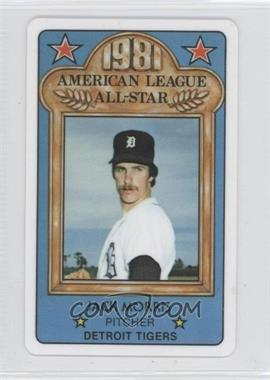 1981 Perma-Graphics/Topps Credit Cards All-Stars #150 - Jack Morris