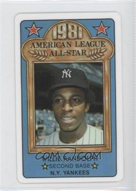 1981 Perma-Graphics/Topps Credit Cards All-Stars #30 - Willie Randolph