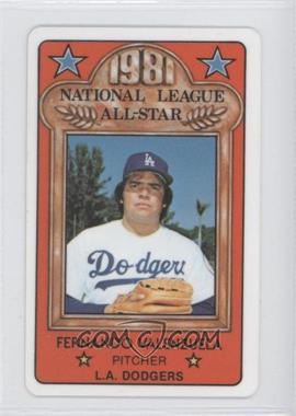 1981 Perma-Graphics/Topps Credit Cards All-Stars #34 - Fernando Valenzuela
