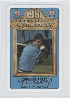 1981 Perma-Graphics/Topps Credit Cards All-Stars #5 - George Brett