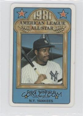 1981 Perma-Graphics/Topps Credit Cards All-Stars #N/A - Dave Winfield
