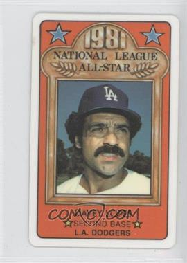 1981 Perma-Graphics/Topps Credit Cards All-Stars #N/A - Davey Lopes