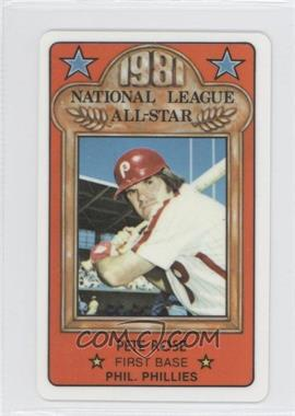 1981 Perma-Graphics/Topps Credit Cards All-Stars #N/A - Pete Rose