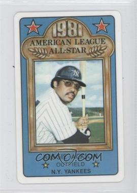 1981 Perma-Graphics/Topps Credit Cards All-Stars #N/A - Reggie Jackson