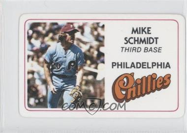 1981 Perma-Graphics/Topps Credit Cards #002 - Mike Schmidt