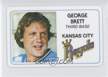 1981 Perma-Graphics/Topps Credit Cards #003 - George Brett