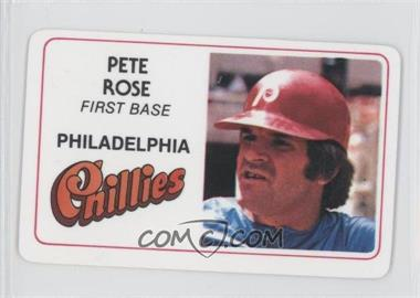 1981 Perma-Graphics/Topps Credit Cards #005 - Pete Rose
