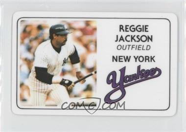 1981 Perma-Graphics/Topps Credit Cards #007 - Reggie Jackson