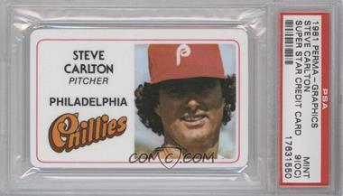 1981 Perma-Graphics/Topps Credit Cards #016 - Steve Carlton [PSA9(OC)]