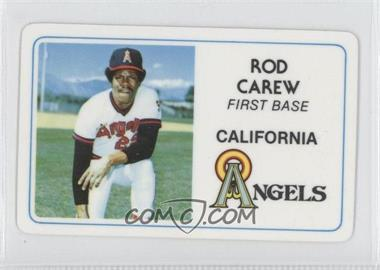 1981 Perma-Graphics/Topps Credit Cards #022 - Rod Carew