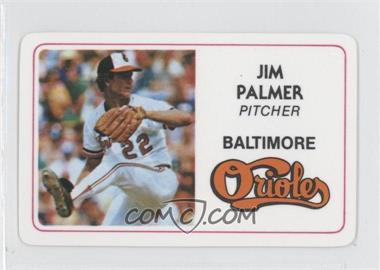 1981 Perma-Graphics/Topps Credit Cards #028 - Jim Palmer