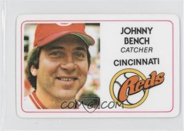 1981 Perma-Graphics/Topps Credit Cards #125-001 - Johnny Bench