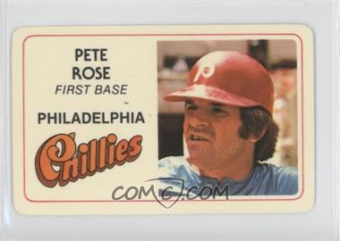 1981 Perma-Graphics/Topps Credit Cards #125-005 - Pete Rose