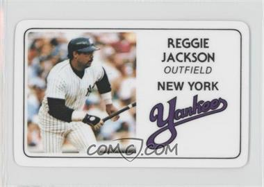 1981 Perma-Graphics/Topps Credit Cards #125-007 - Reggie Jackson