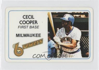 1981 Perma-Graphics/Topps Credit Cards #125-015 - Cecil Cooper