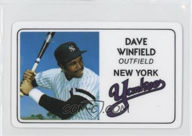 1981 Perma-Graphics/Topps Credit Cards #125-021 - Dave Winfield