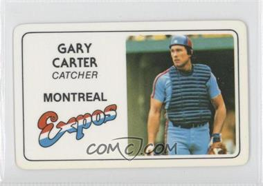 1981 Perma-Graphics/Topps Credit Cards #N/A - Gary Carter