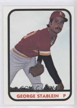 1981 TCMA Minor League #14 - George Stablein