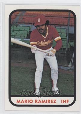1981 TCMA Minor League #23 - Mario Ramirez