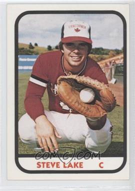 1981 TCMA Minor League #25 - Steve Lake