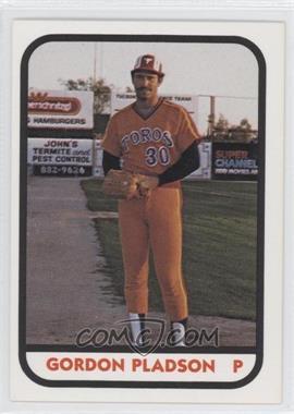 1981 TCMA Minor League #367 - Gordie Pladson